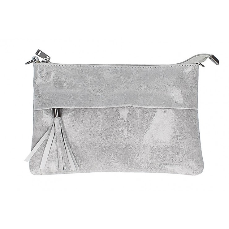 Genuine Leather Handbag 1423A gray