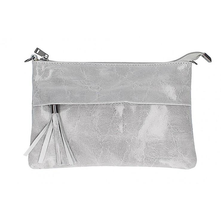 Kožená kabelka 1423A šedá
