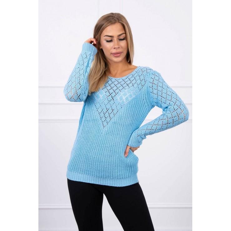 Dámsky sveter MI2019-39 modrý