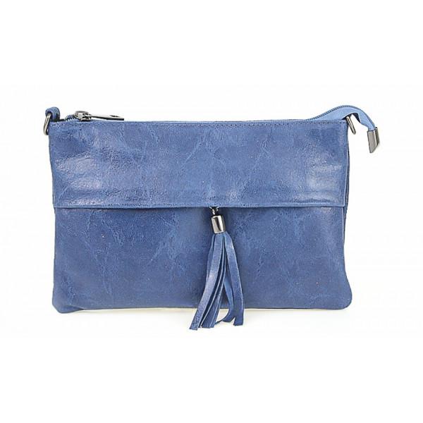 Kožená kabelka 1423A jeans