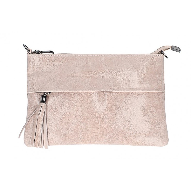 Genuine Leather Handbag 1423A pink