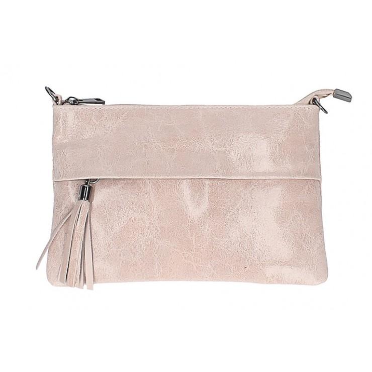 Kožená kabelka 1423A ružová