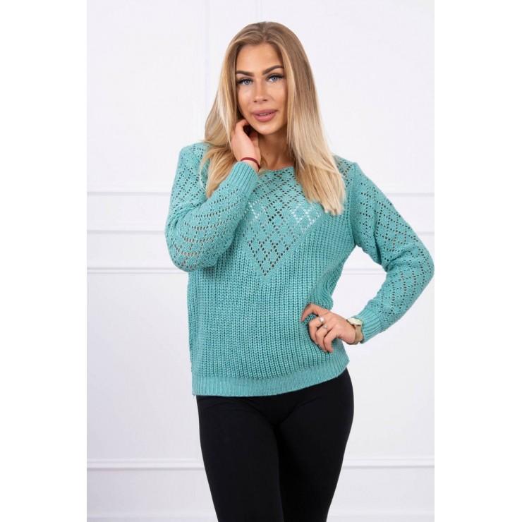 Ladies sweater MI2019-39 light green