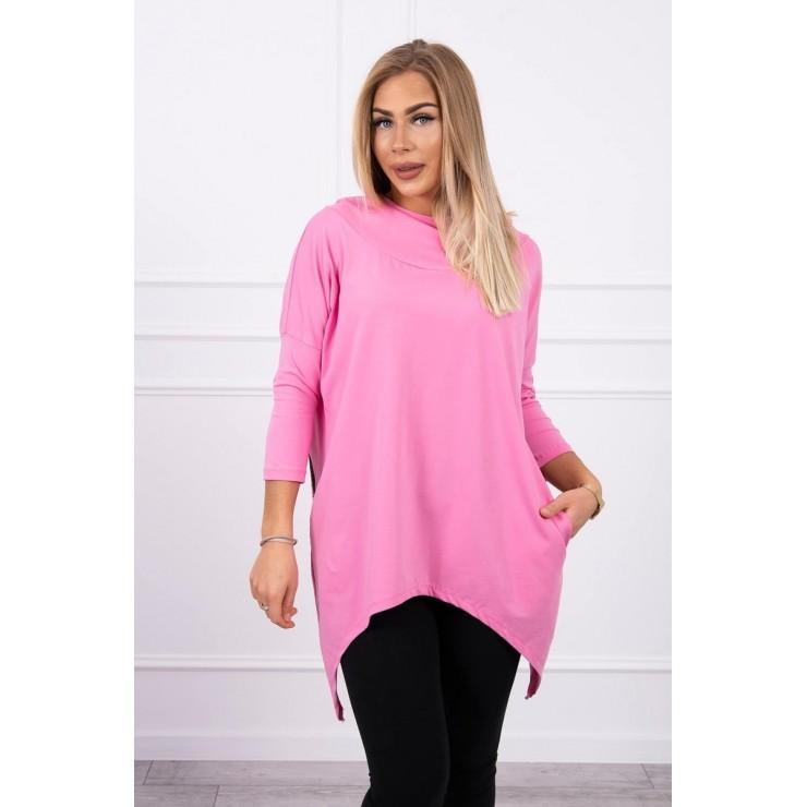 Women's sweatshirt with print of bicycle MI9139 light pink