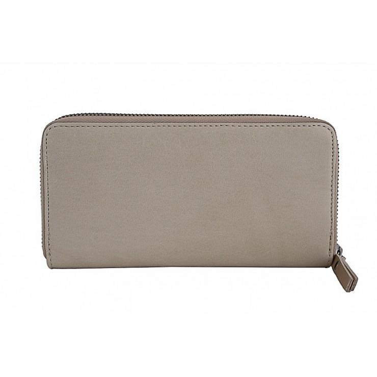 Kožená peňaženka na zips 595A šedohnedá
