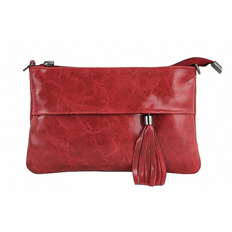Genuine Leather Handbag 1423A red