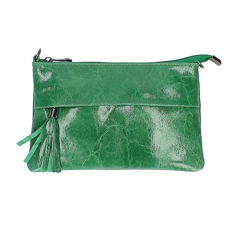 Kožená kabelka 1423A zelená