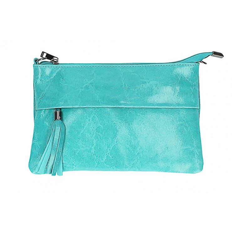Genuine Leather Handbag 1423A turquoise