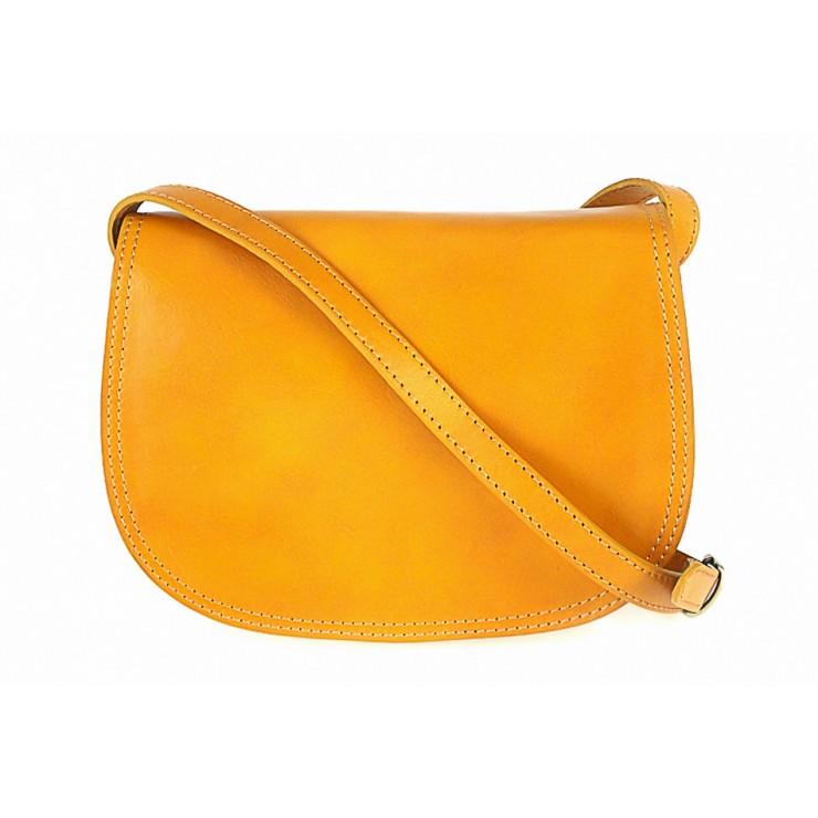 Kožená kabelka na rameno 675 žltá