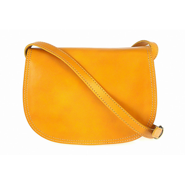 Kožená kabelka na rameno 675 žltá Žltá