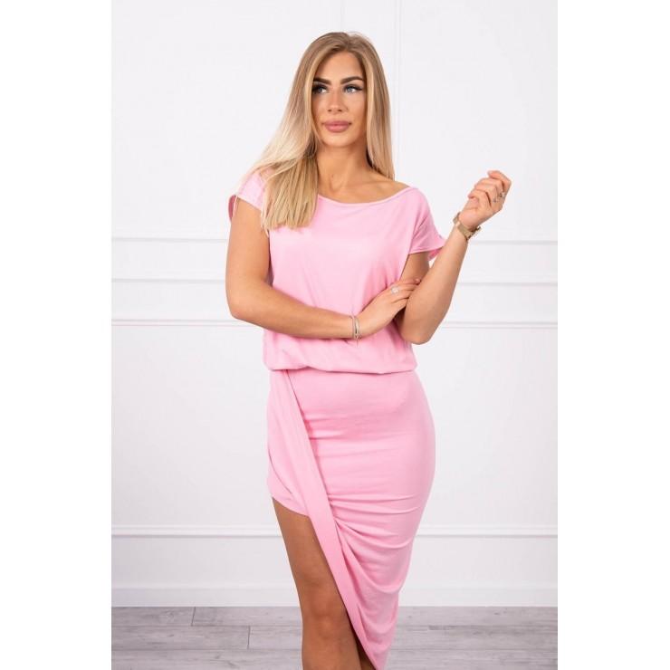 Women's asymmetrical dress MI61524 light pink