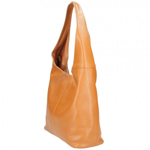 Čierna kožená kabelka na rameno 590 MADE IN ITALY Čierna