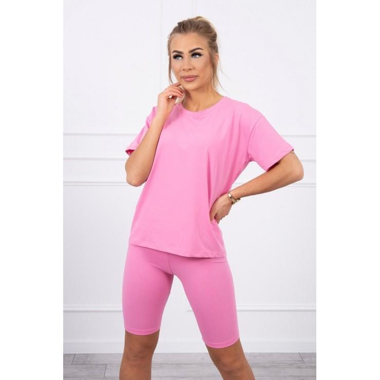 Set of tops and leggings MI9099 light pink