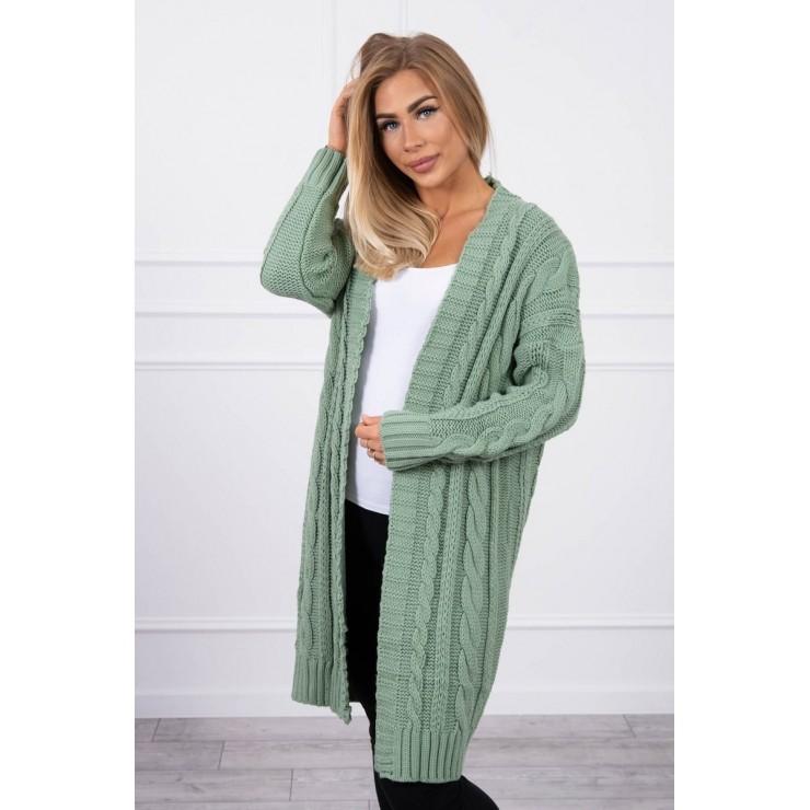 Women's knit sweater MI2019-21 dark mint