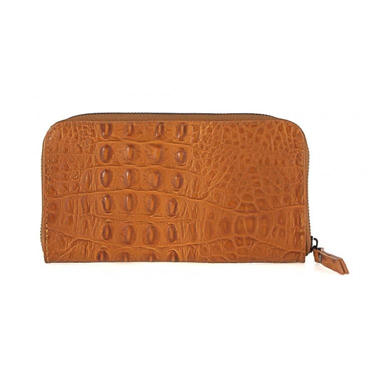 Woman genuine leather wallet 820 cognac