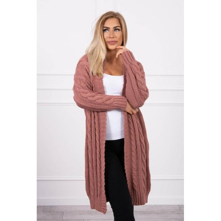 Women's knit sweater MI2019-21 dark pink