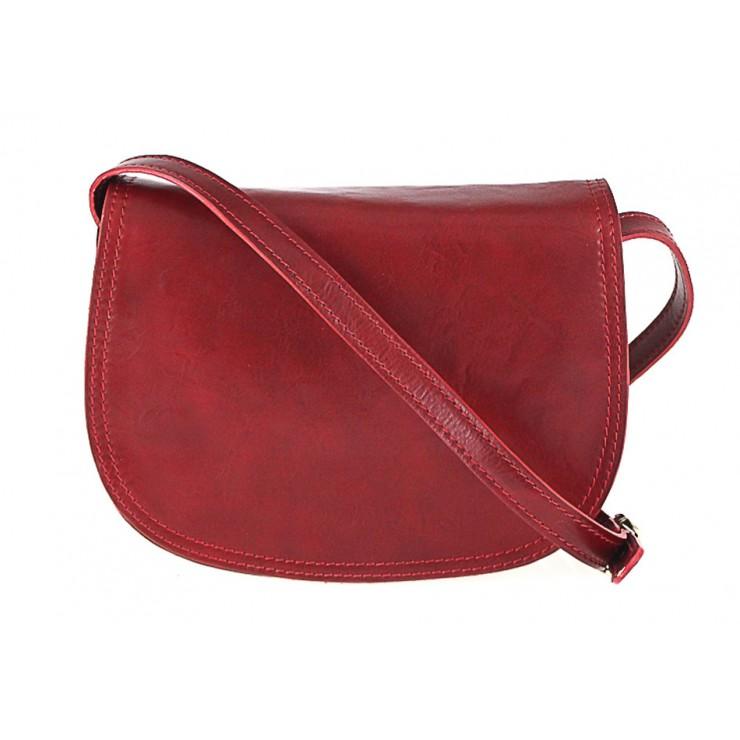 Kožená kabelka na rameno 675 červená