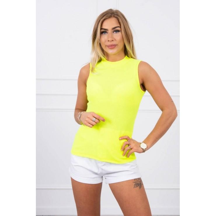 Dámske tričko bez rukávov MI8988 neónovo žlté