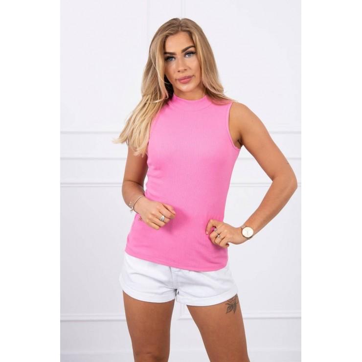 Dámské triko bez rukávů MI8988 světle růžové