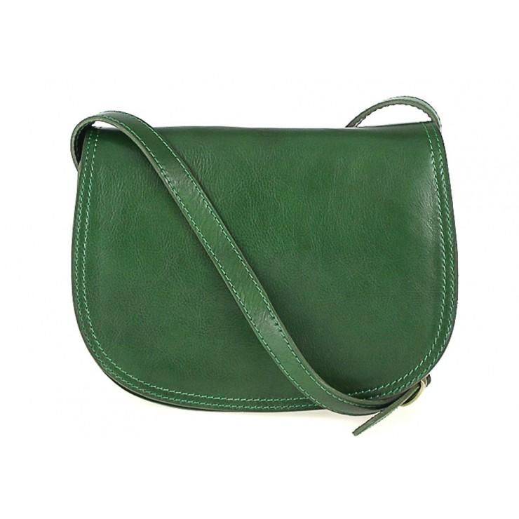 Kožená kabelka na rameno 675 zelená