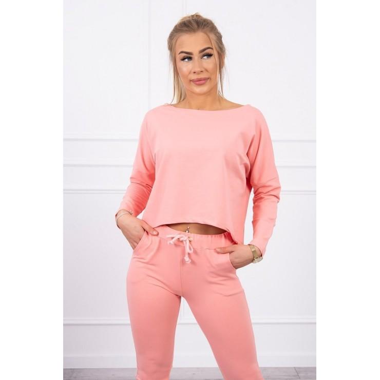 Women's set with oversize blouse MI9091 apricot