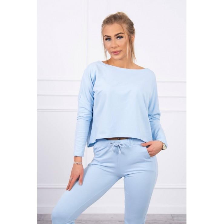 Women's set with oversize blouse MI9091 sky blue