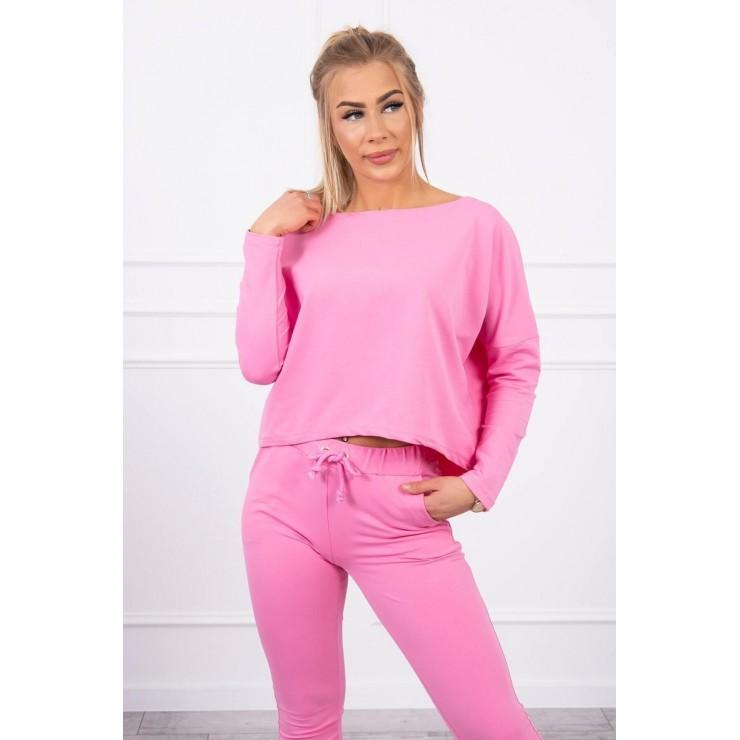 Women's set with oversize blouse MI9091 light pink