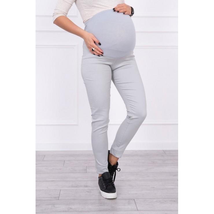 Tehotenské nohavice MI3672 sivé