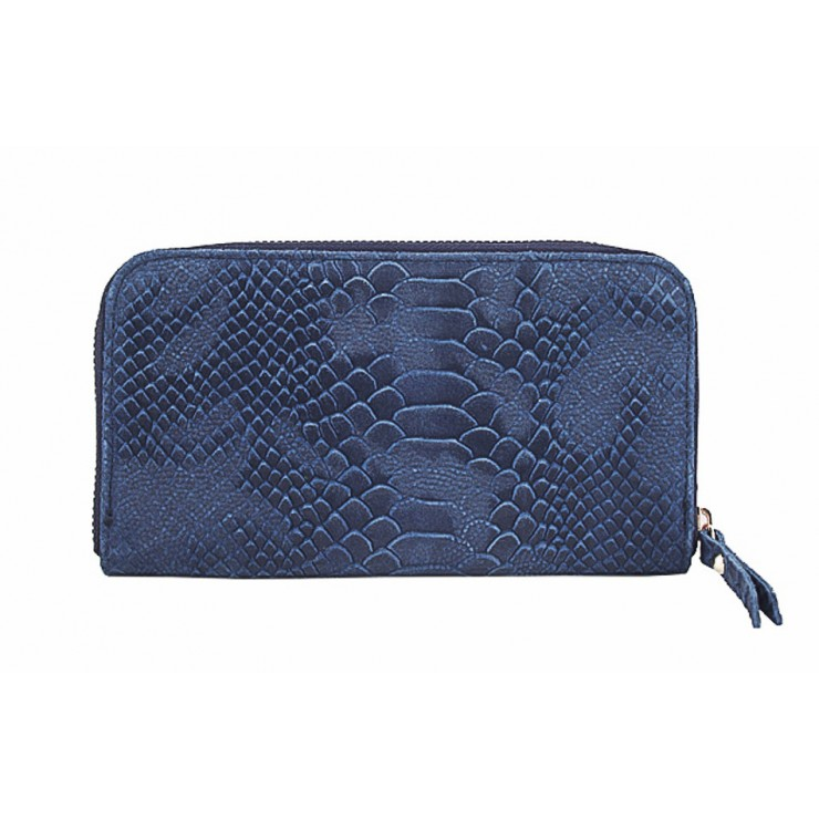 Woman genuine leather wallet 595 blue
