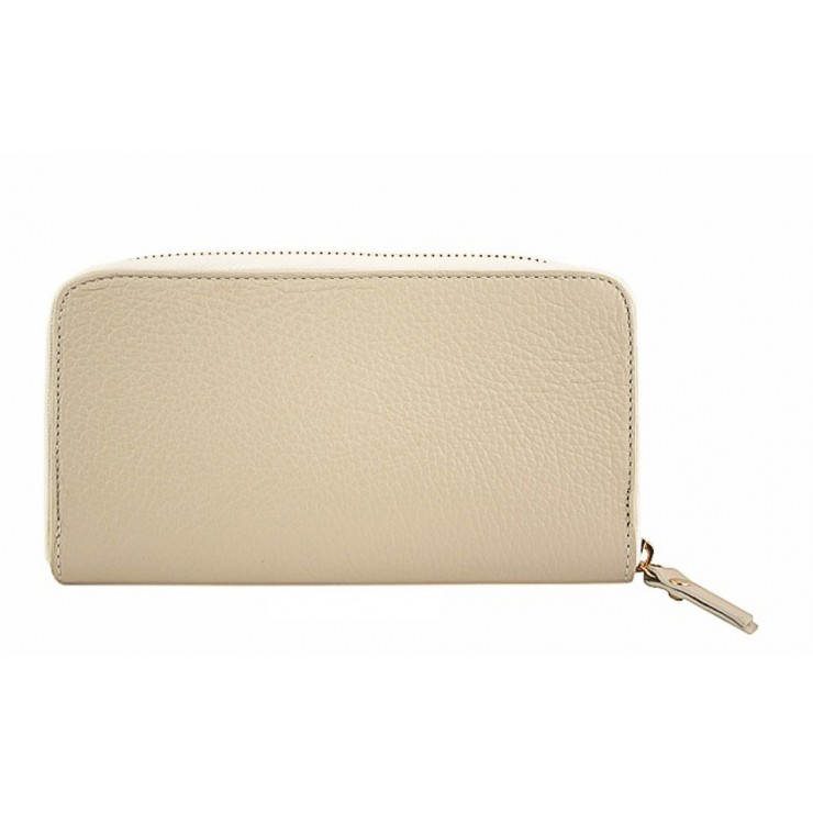 Woman genuine leather wallet 820B beige
