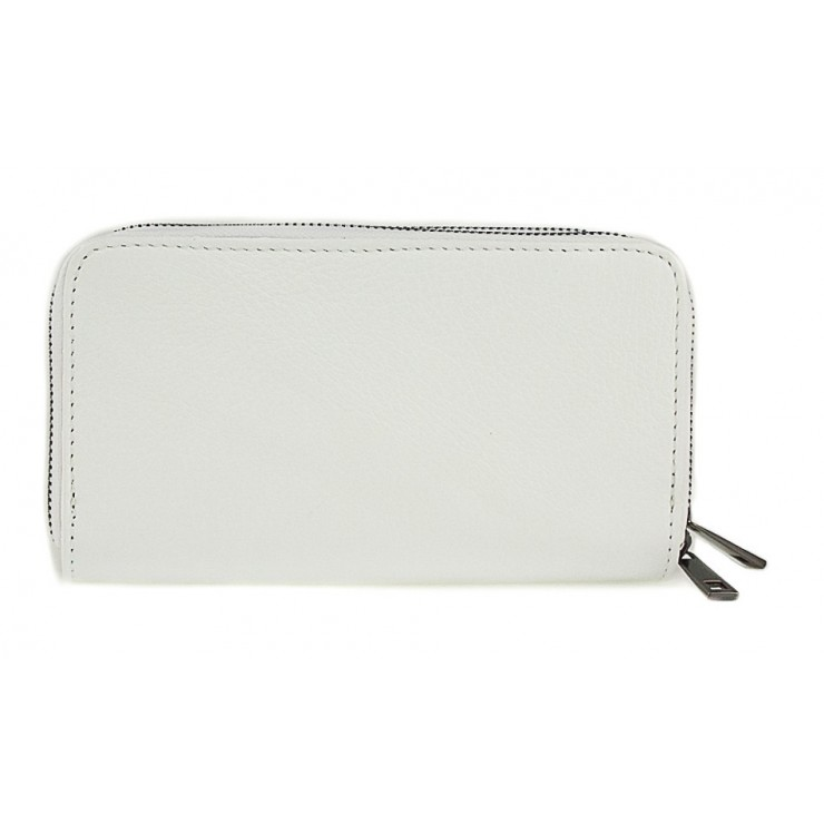 Woman genuine leather wallet 823 white