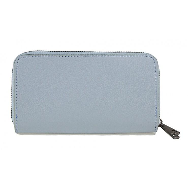 Woman genuine leather wallet 823 light blue