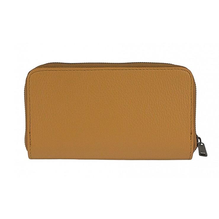 Woman genuine leather wallet 823 cognac