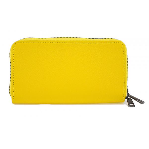 Kožená peňaženka 823 žltá Žltá