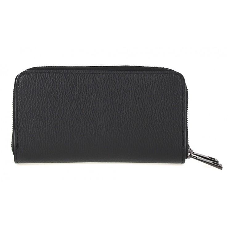 Woman genuine leather wallet 823 black