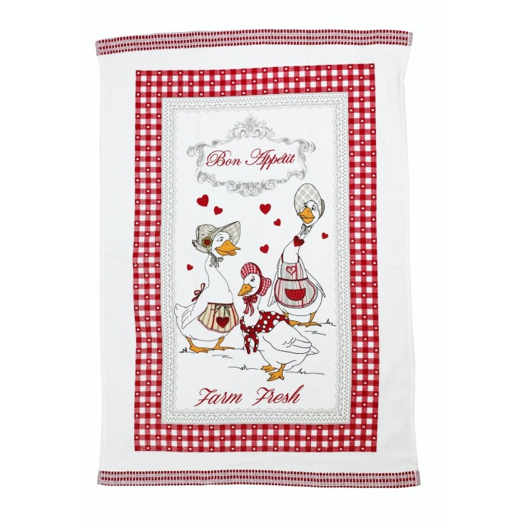 Stylish decorative kitchen towel Geese