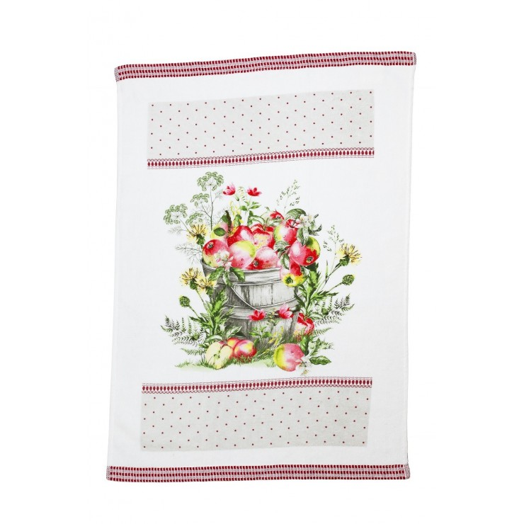 Bavlnená froté utierka Jablká 50 x 70 cm
