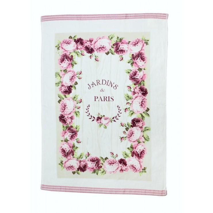 Stylish decorative kitchen towel Jardins de Paris 50 x 70 cm