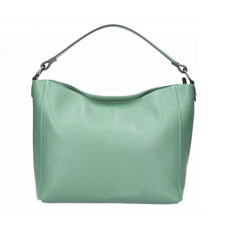 Genuine Leather Handbag 1268 turquoise Made in Italy