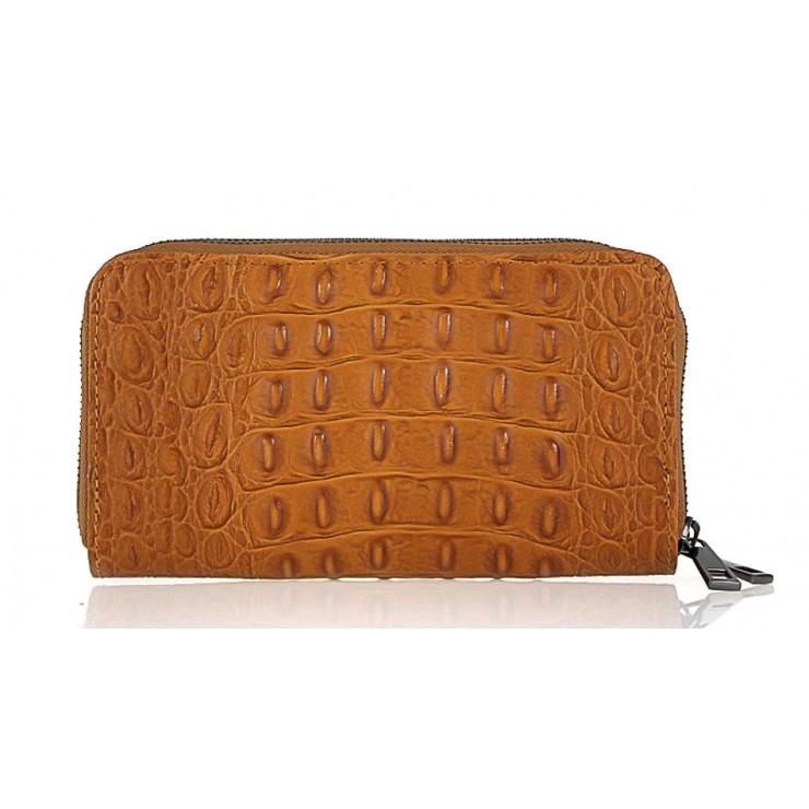 Woman genuine leather wallet 822 cognac