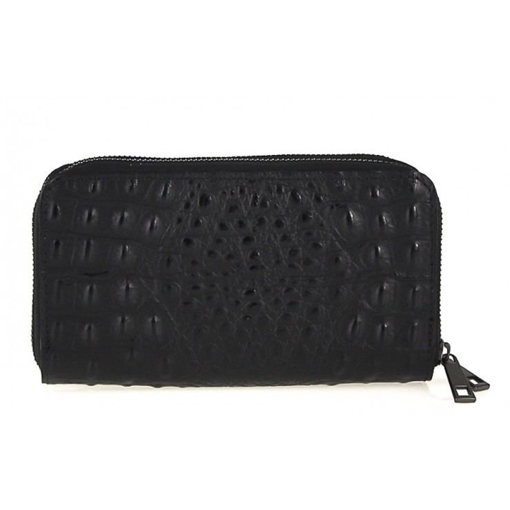 Woman genuine leather wallet 822 black