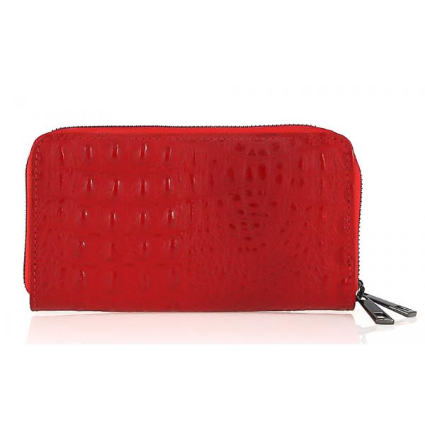 Kožená peňaženka kroko štýl 822 červená