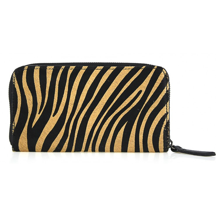 Woman genuine leather wallet 509 dark zebra