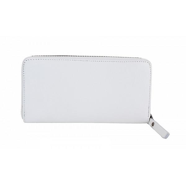 Kožená peňaženka na zips 595A biela Biela