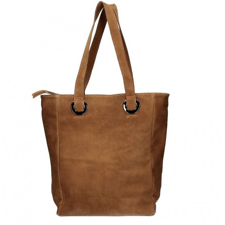 Kožená kabelka na rameno 524 hnedá MADE IN ITALY