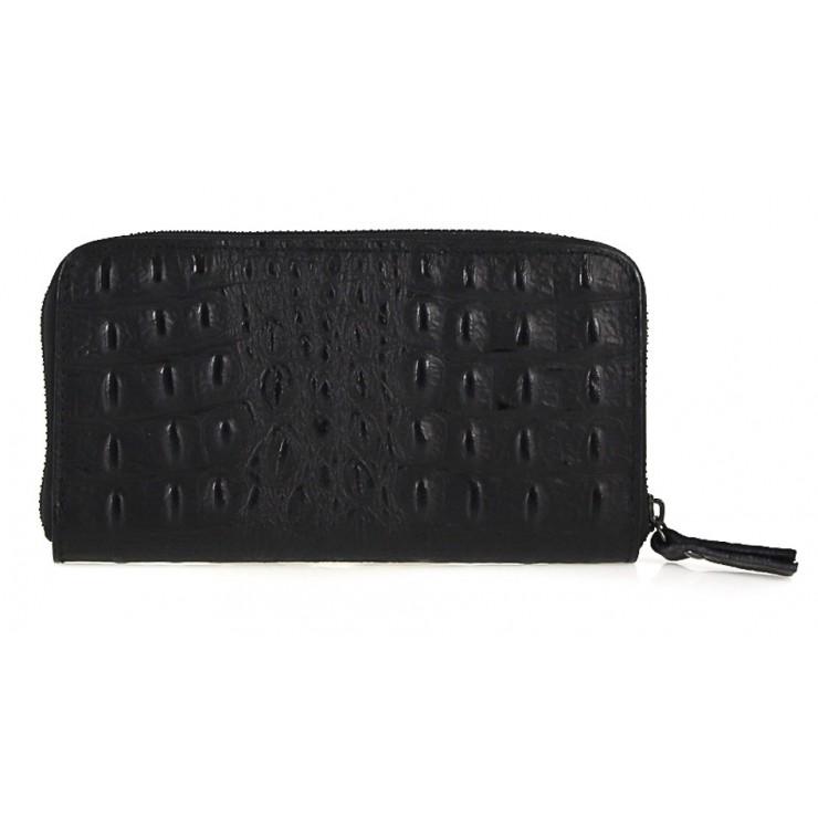 Woman genuine leather wallet 820 black