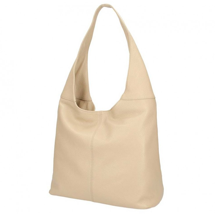 Leather shoulder bag 590 taupe