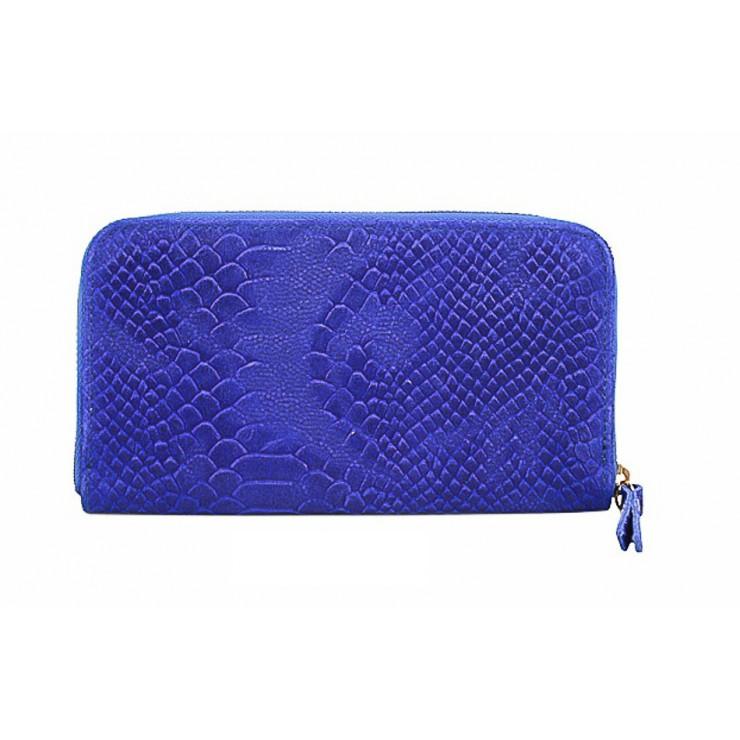 Kožená peňaženka 820A azurovo modrá