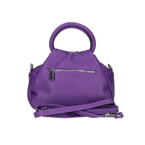 Dámska kabelka 538 fialová MADE IN ITALY Koňak