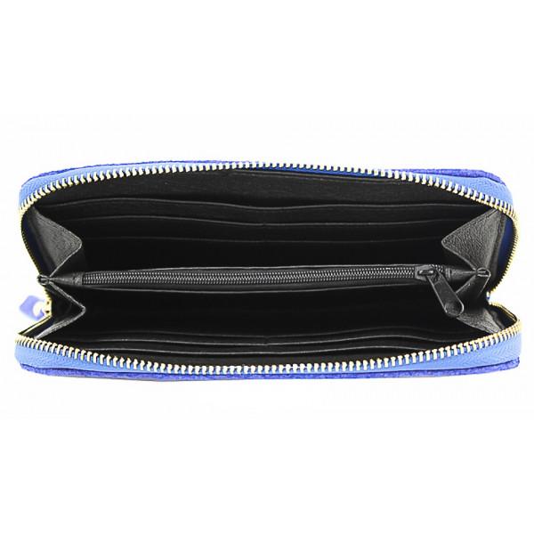 Kožená peňaženka 595 nebesky modrá Modrá